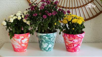 260166 - Chic Marbled Planters
