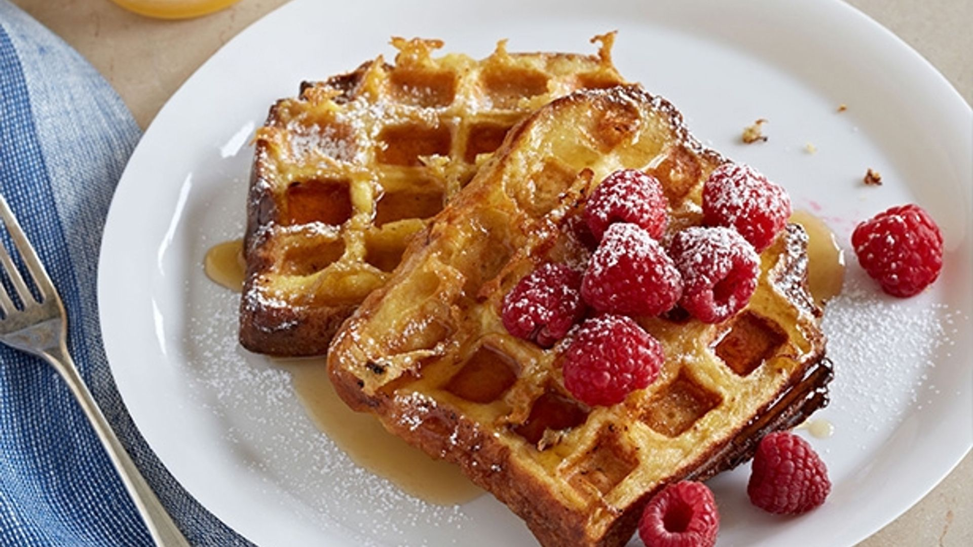 Waffled Brioche French Toast- A breakfast classic that ...