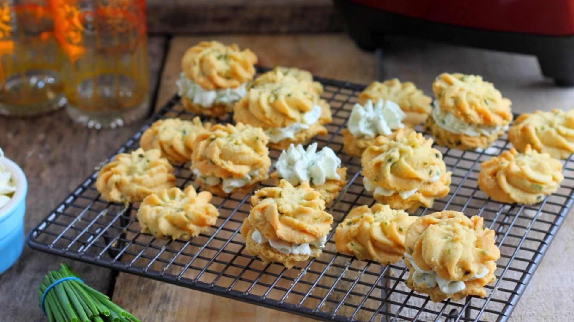 Cheese And Chive Viennese Whirls A Savoury Take On Traditional Viennese Whirls With A Creamy